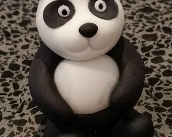 Panda edible cake topper