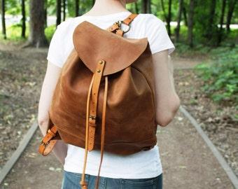 Vintage Leather backpack, handmade, leather rucksack, hipster backpack, leather handbag, mens rucksack backpack, laptop backpack