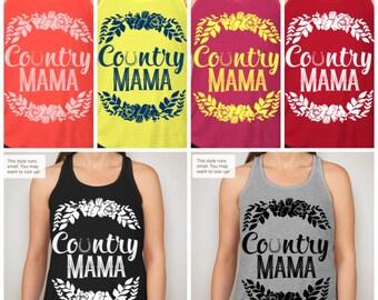 Country Mama flowy racerback tank