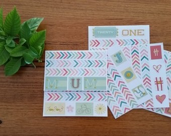Greeting cards (set of 6) - Chevron Arrows