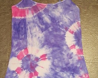 Hand dyed vest top