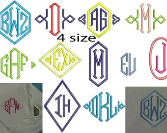 Machine embroidery designs. Monogram Fonts For Embroidery. Embroidery Fonts, Embroidery Monogram,  Embroidery Designs. Instant Download.