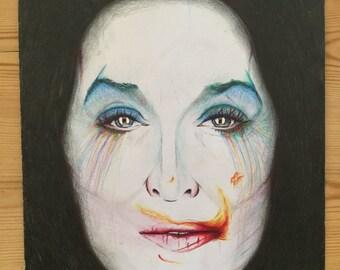 Abstract Meryl Streep drawing A3