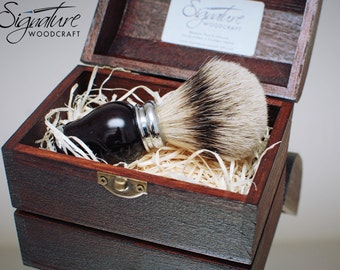 Beautiful Handcrafted Badger Shaving Brush with Silvertip Badger Hair - Birthday Gift, Wet Shaving, Anniversary,Husband Gift, Fathers Day