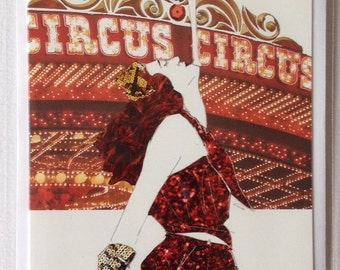 Ruby- Vintage Circus Performer Illustrated Card
