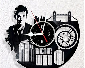 Vinyl wall clock Doctor Who