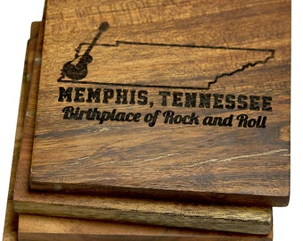 "Memphis, Tennessee ""Birthplace of Rock and Roll"" Coasters"