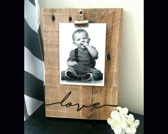 Photo Clipboard, Picture Clipboard, Picture Holder, Rustic Photo Display