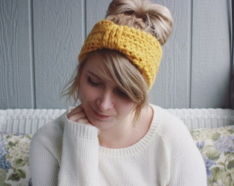 The Sunbeam    Hand Crocheted Ear Warmer Head Band