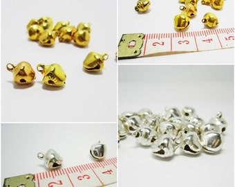 7 mm Gold or Silver Little Bells