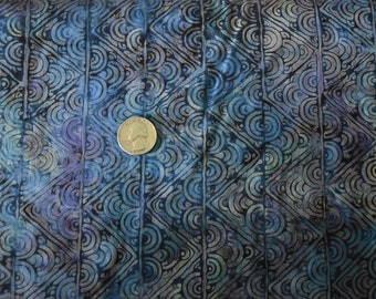 ISLAND BATIK, batik fabric, 100% Cotton, blue