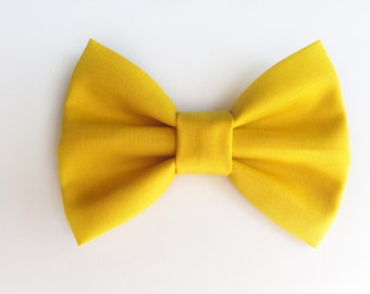 BIG Mustard Yellow Bow, baby girl, baby hair clip, baby headband, baby bow, girl toddler, baby shower, baby gift