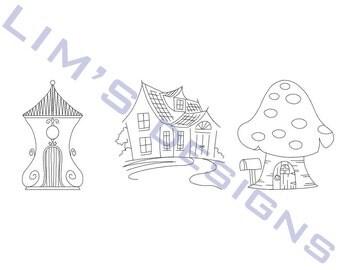 "Three Quilt Patterns N56 machine embroidery designs - 3 sizes 4x4"", 5x5"", 6x6"""