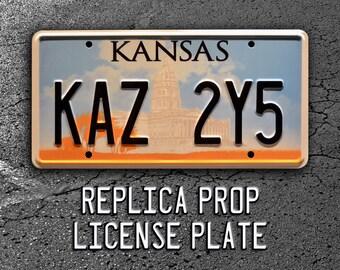 Supernatural / Dean Winchester's Metallicar / KAZ 2Y5 *Metal Stamped* Replica Prop License Plate