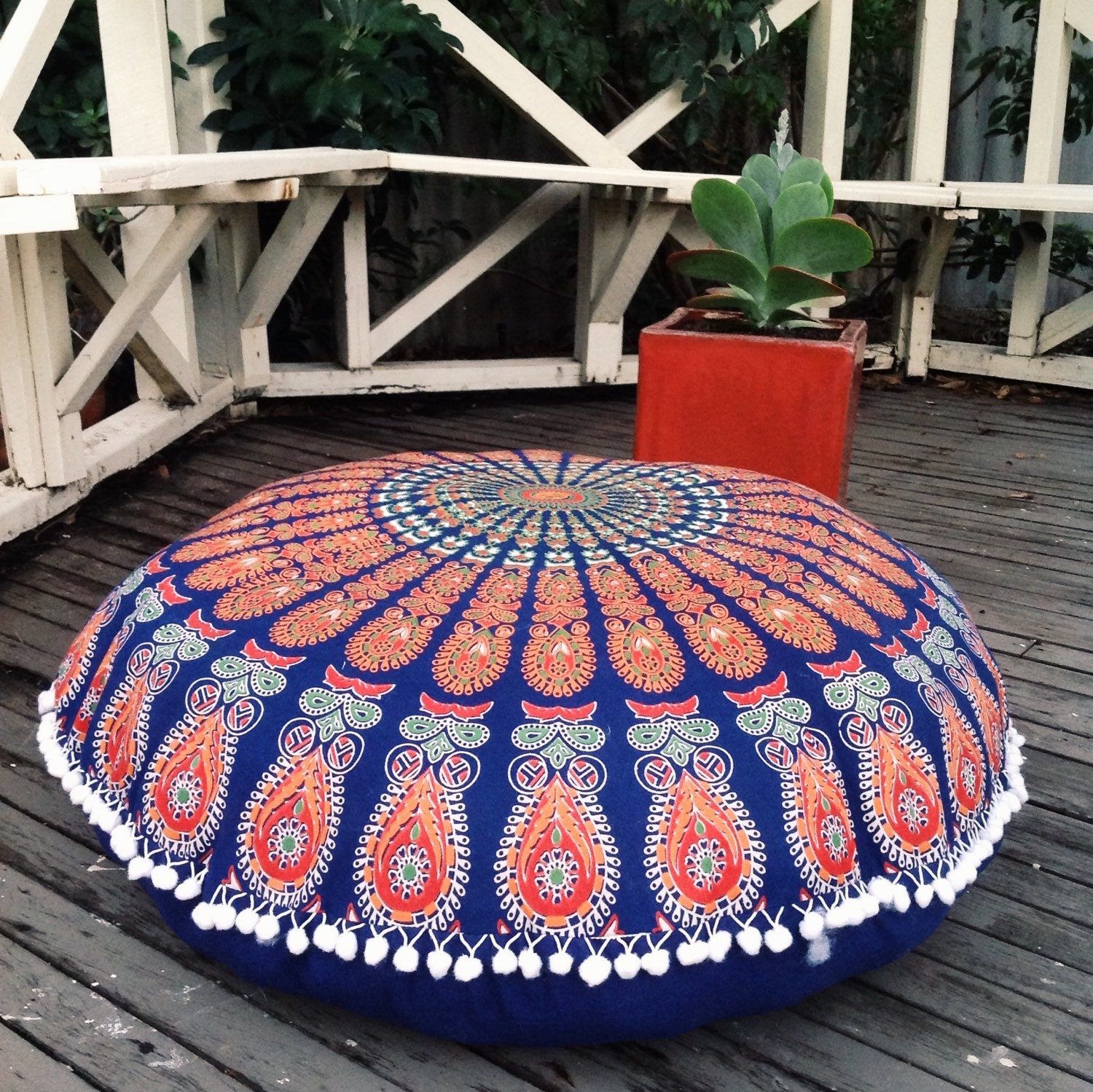 Giant Bohemian Floor Pillows : Bohemian floor cushion cover COVER ONLY by KOSMOtapestry on Etsy