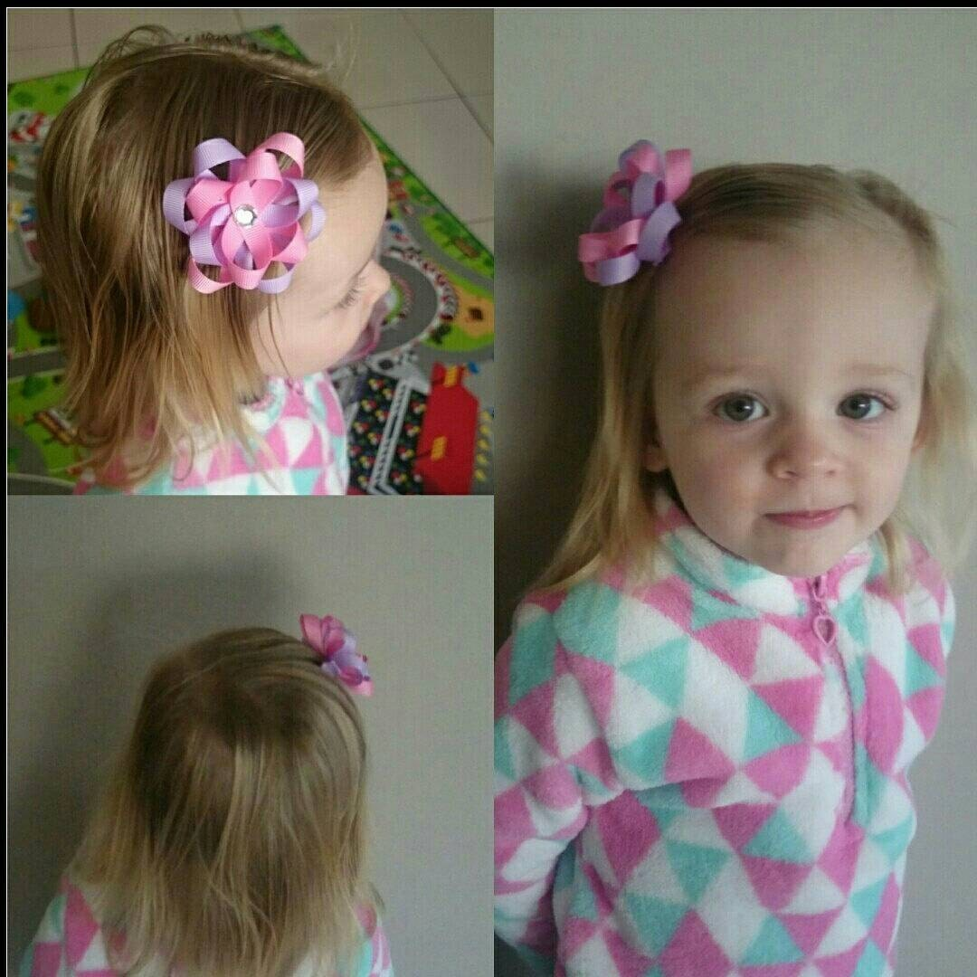 Handmade Toddler Girls Flower Hair Clips