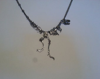 T-Rex Skeleton Necklace