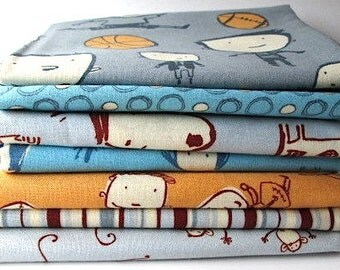 Clearance Bundle of Boys Will Be Boys by David Walker for Freespirit/Westminister, Fat Quarter/Half Yard Bundle