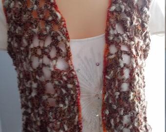 Crocheted bolero vest