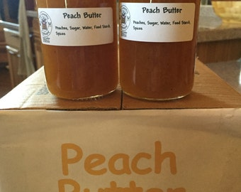 Peach Butter, Old Amish Recipe, Gifts, Favors,