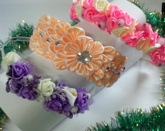 HEADBAND KANZASHI FLOWERS