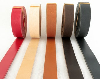 Genuine Leather Strap 2 cm wide 200 cm Red Black  Dark Brown Camel Beige ( Off White Natual ) Leather Straps