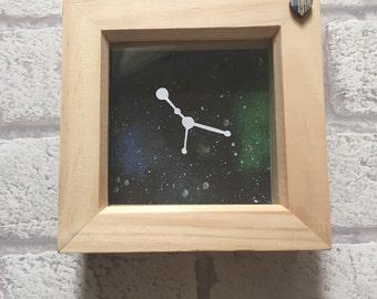 Zodiac constellation framed papercut art, Cancer star sign, zodiac gift, cancer birthday gift, constellation gift, July birthday gift