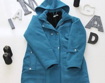 Faux fur-lined Hoodie coat