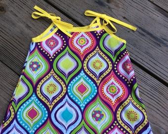 "Girls ""Multicolored Flower"" Sun Dress"