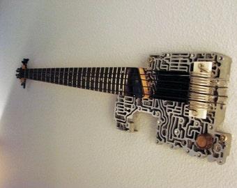 Steampunk Guitar Wall Art