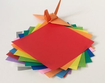 """Origami Paper Sheets - Colored Paper Assortment - 280 3"""" Sheets"""