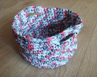 Crochet Basket, Knitted Basket,
