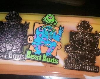 """Monster Dabs """"Best Buds"""" 3 pin Collectors edition"""