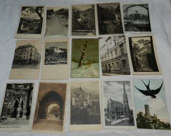 Large Lot of 164 Vintage / antique Postcards - mostly from Germany from the first half of the 1900s - collectible Ephemera - photos     4-63