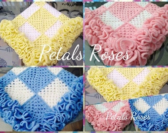Roses Infinity Blanket Crochet Pattern. Instant PDF Download.
