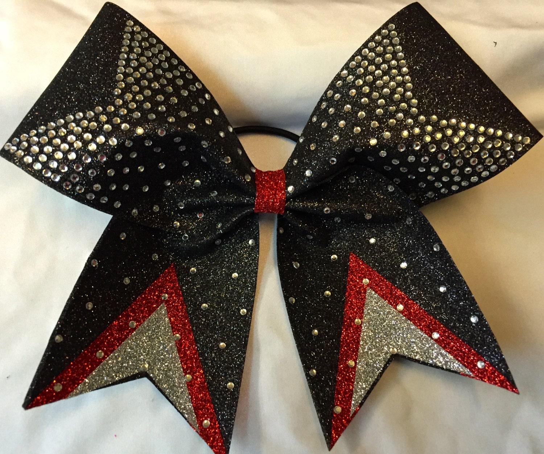 Custom Glitter Rhinestone Cheer Bow