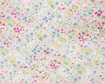 Little Floral Fabric, Floral Fabric, Japanese Floral Fabric, Little Flowers, Cotton, Soft Pink, Half Metre