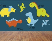 Dinosaur decals, Dinosaur stickers, Little boy decals, Boy's room decals, Wall decals, Bedroom stickers, Dinosaurs, Animal decals, Animals