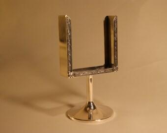 Sterling Silver Calendar Business Cards Holder Stand Pedestal Scrolls Not Monogrammed A1206