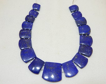 100% Natural Gemstone Lapis lazuli Smooth Beads Fancy Shape 10x12 To 22x24 mm Approx Good Quality