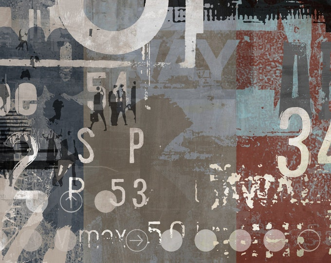 TYPE ART I by Sven Pfrommer - 140x70cm Artwork is ready to hang.