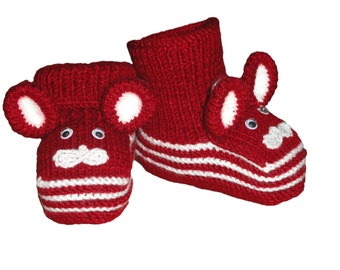Bunny slippers, Baby booties, gift for baby, Kid's boots, knited baby shoes,bunny ears