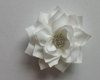 White Bling Flower Headband