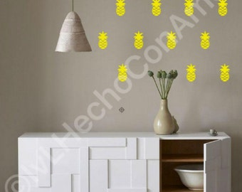 Pineapple Wall Decal, Pineapple Wall decor, Pineapple wall art, vinyl wall decals, wall decor sticker, nursery wall decal, pineapple decor