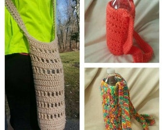Crocheted water bottle holder