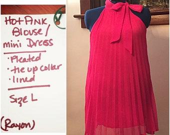 Flirty HOT PINK Swing Dress OR Top