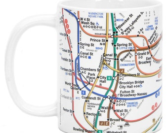 NYC Subway Lines Mug New*
