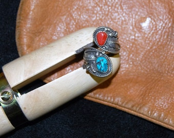 Sterling Silver Wrap Ring with Turquoise