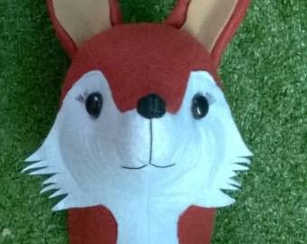 faux fox taxidermy