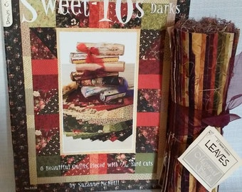 Sweet 16s Darks Quilt Book and Fabric
